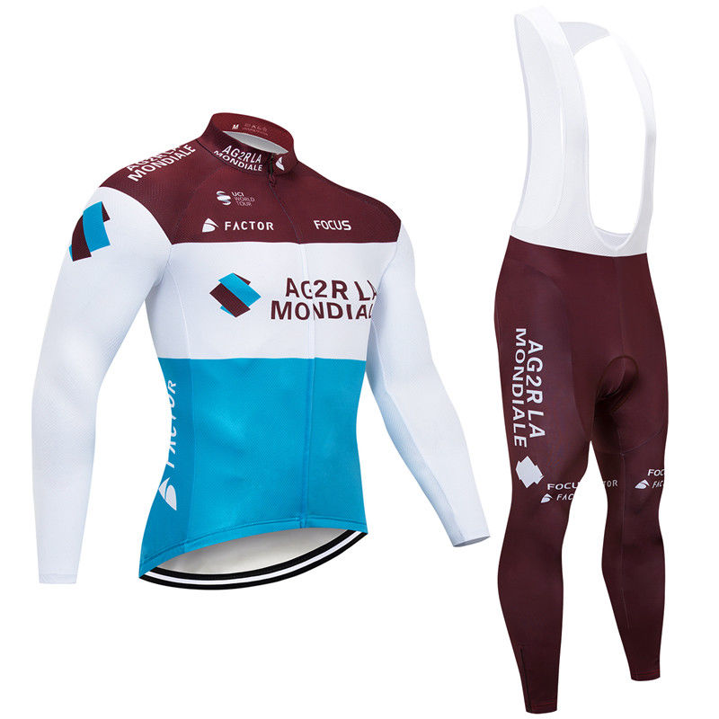 181015A Cycling Long Sleeve Jersey & BIB Long Pants kit Size S/M/L/XL/XXL/XXXL