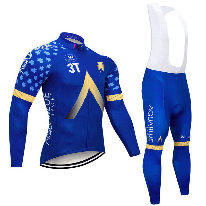 181015B Cycling Long Sleeve Jersey & BIB Long Pants kit Size S/M/L/XL/XXL/XXXL