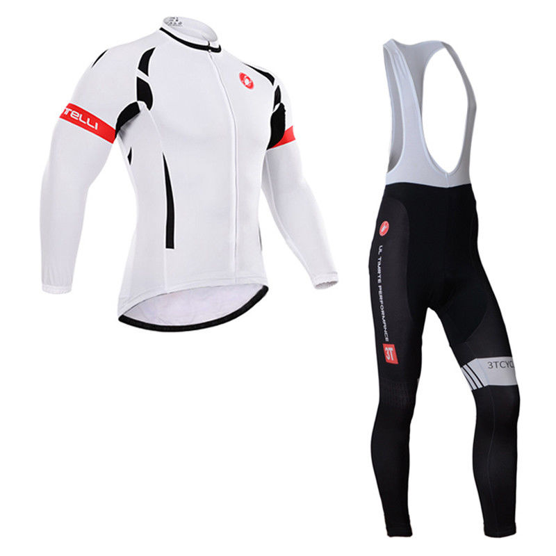 181015Q Cycling Long Sleeve Jersey & BIB Long Pants kit Size S/M/L/XL/XXL/XXXL