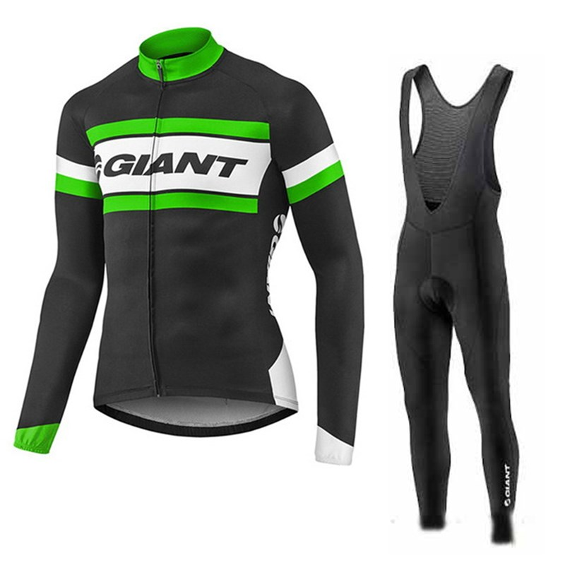 181016UF Cycling Long Sleeve Jersey & BIB Long Pants kit Size S/M/L/XL/XXL/XXXL