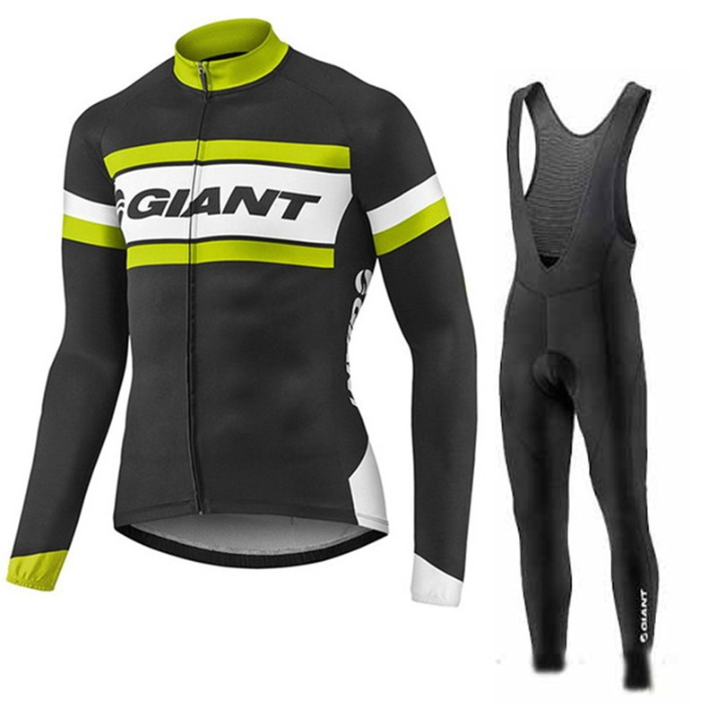 181016W Cycling Long Sleeve Jersey & BIB Long Pants kit Size S/M/L/XL/XXL/XXXL