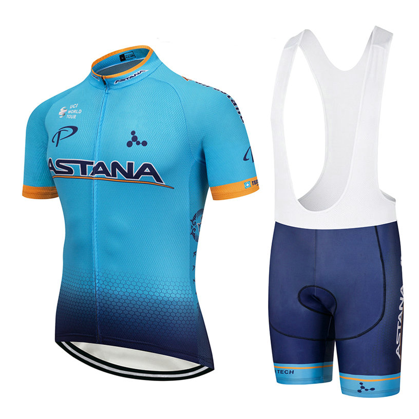 ASTANA (#1801S1) Cycling Short Sleeve Jersey & BIB Shorts kit Size S/M/L/XL/XXL/XXXL
