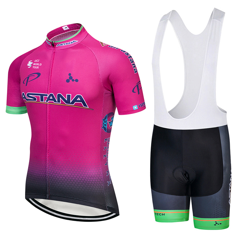 ASTANA (#1802S1) Cycling Short Sleeve Jersey & BIB Shorts kit Size S/M/L/XL/XXL/XXXL