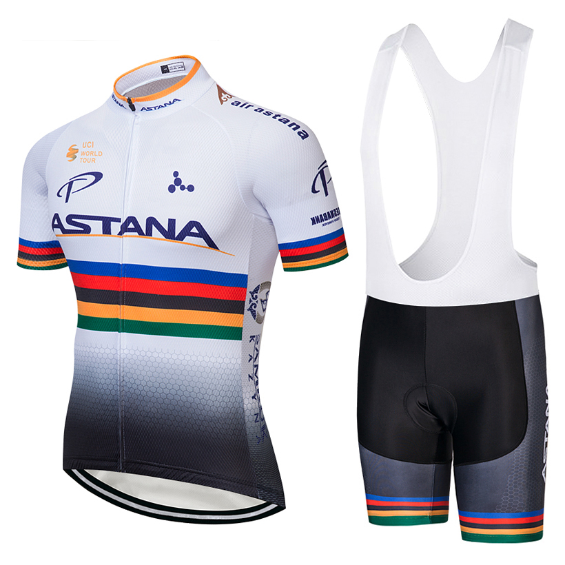 ASTANA (#1803S1) Cycling Short Sleeve Jersey & BIB Shorts kit Size S/M/L/XL/XXL/XXXL