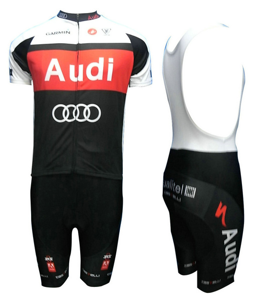 Audi (#1101S1) Cycling Short Sleeve Jersey & BIB Shorts kit Size S/M/L/XL/XXL/XXXL