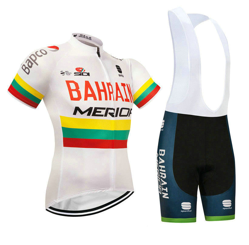 BAHRAIN MERIDA (#1801S1) Cycling Short Sleeve Jersey & BIB Shorts kit Size S/M/L/XL/XXL/XXXL