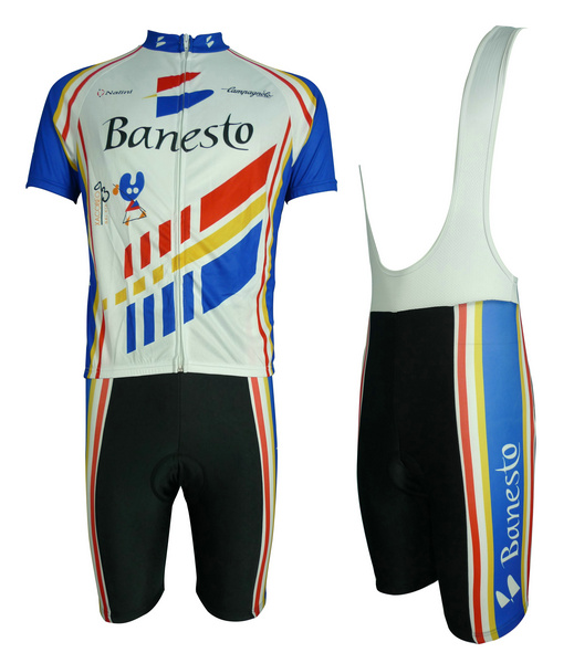 Banesto (#1301S1) 1993 Cycling Short Sleeve Jersey & BIB Shorts kit Size S/M/L/XL/XXL/XXXL