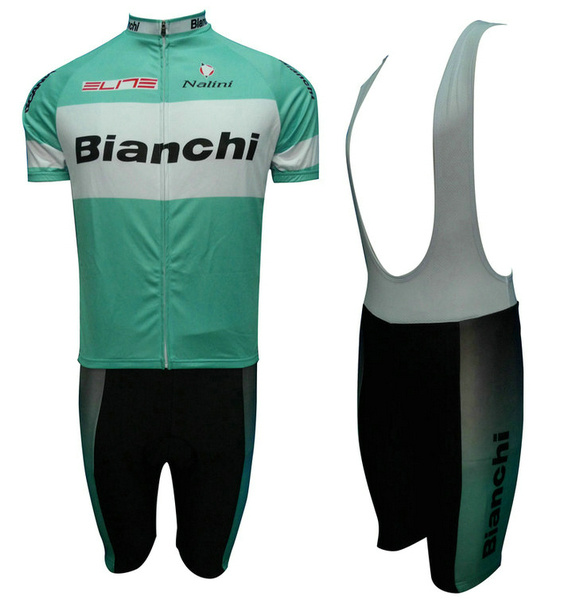 BIANCHI (#1201S1) Cycling Short Sleeve Jersey & BIB Shorts kit Size S/M/L/XL/XXL/XXXL