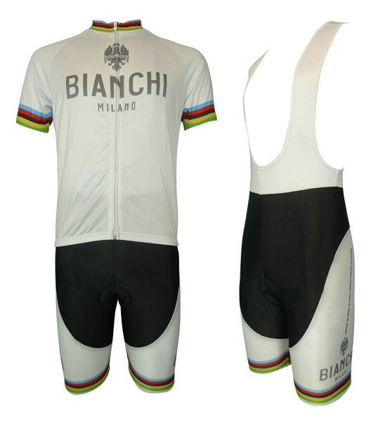 BIANCHI (#1304S1) Cycling Short Sleeve Jersey & BIB Shorts kit Size S/M/L/XL/XXL/XXXL