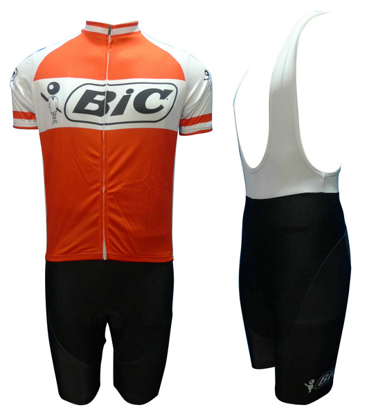 BIC (#1201S1) Cycling Short Sleeve Jersey & BIB Shorts kit Size S/M/L/XL/XXL/XXXL
