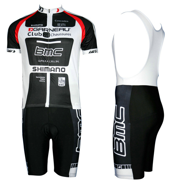 BMC 2011 #1102S1 Cycling Short Sleeve Jersey & BIB Shorts kit Size S/M/L/XL/XXL/XXXL
