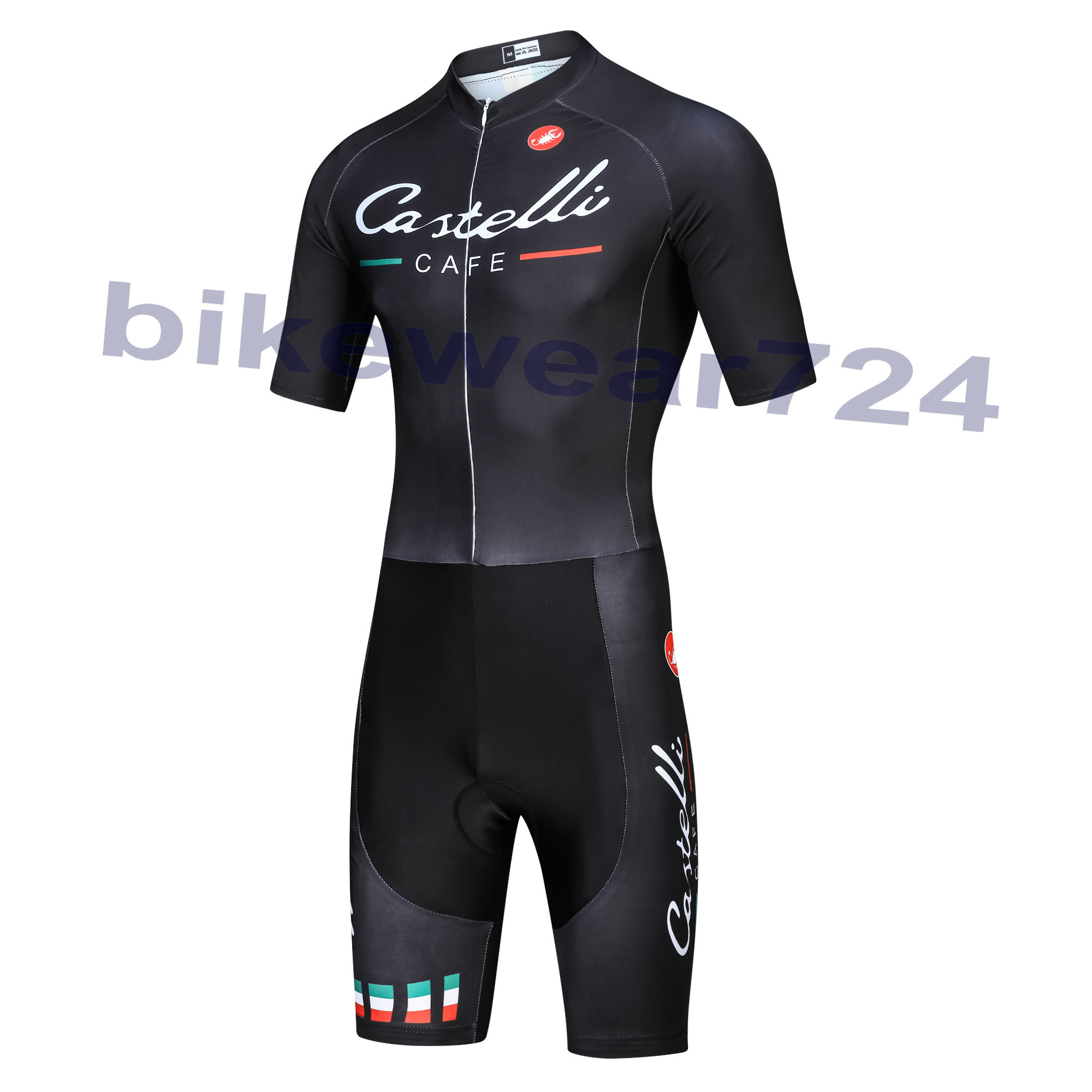 CASTELLI (#1601JS) Cycling Bike Short sleeve Jump Suit Kit Size XS/S/M/L/XL/XXL/XXXL
