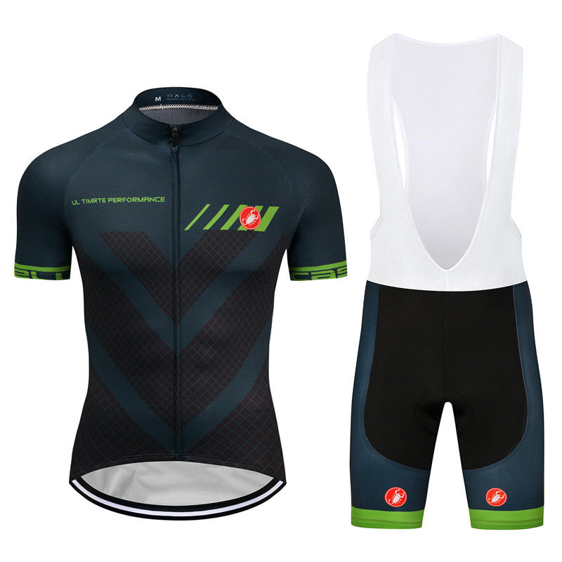 CASTELLI (#1801S1) Cycling Short Sleeve Jersey & BIB Shorts kit Size S/M/L/XL/XXL/XXXL