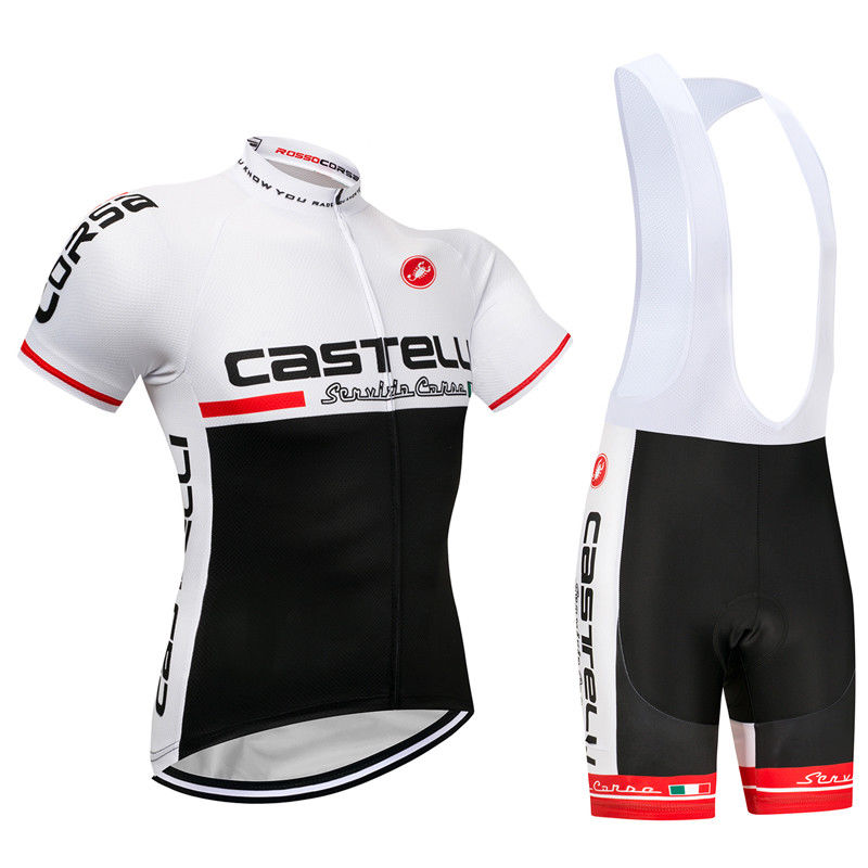 CASTELLI (#1802S1) Cycling Short Sleeve Jersey & BIB Shorts kit Size S/M/L/XL/XXL/XXXL