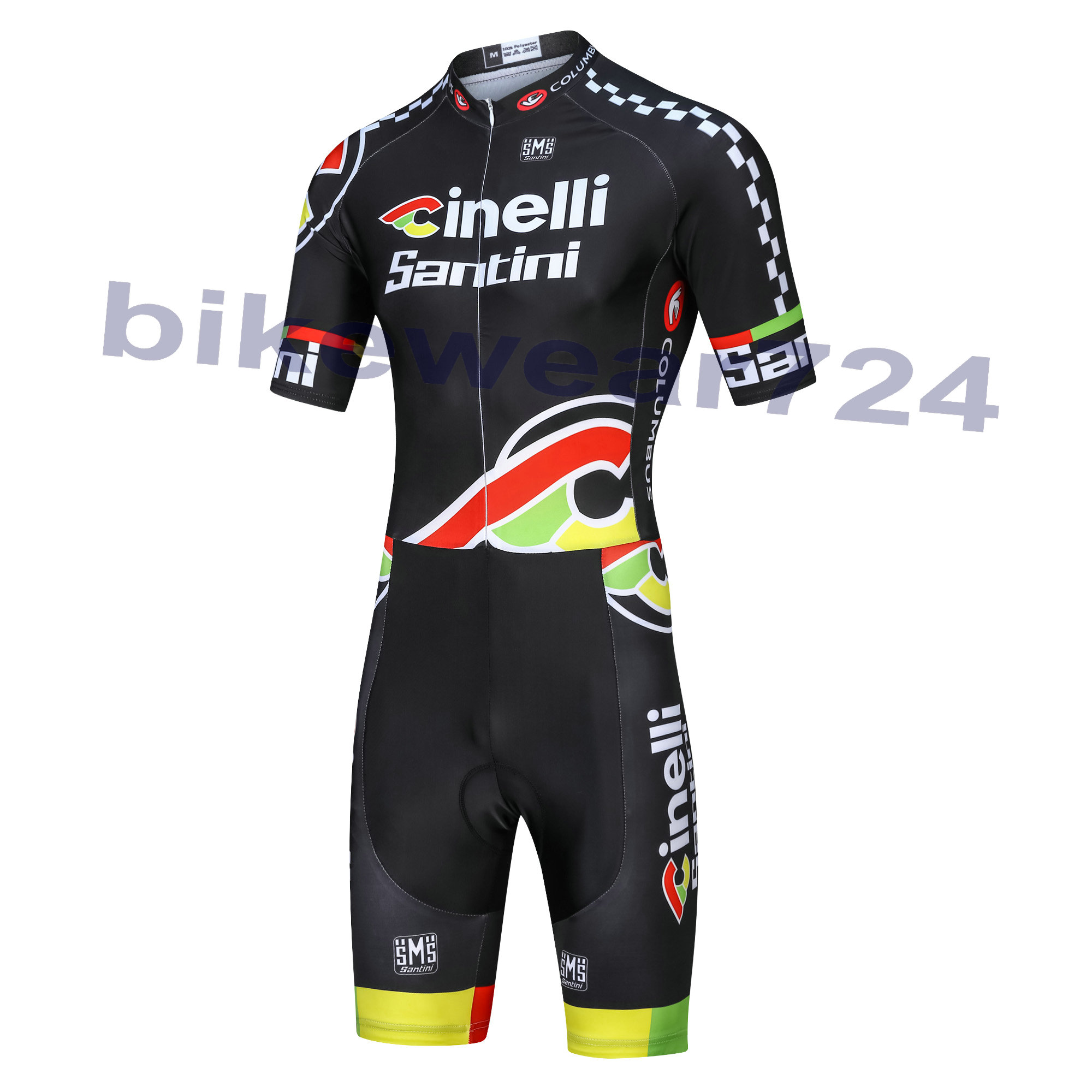 Cinelli Chrome (#1502JS) Cycling Bike Short sleeve Jump Suit Kit Size XS/S/M/L/XL/XXL/XXXL