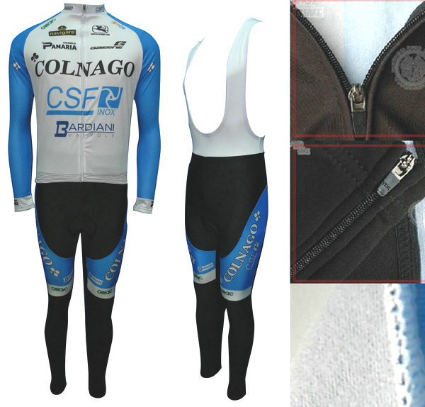 COLNAGO (#1201L1) Cycling Long Sleeve Jersey & BIB Long Pants kit Size S/M/L/XL/XXL/XXXL Price $38