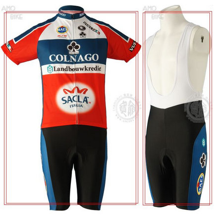 COLNAGO 2009 Red Cycling Short Sleeve Jersey & BIB Shorts kit Size S/M/L/XL/XXL/XXXL