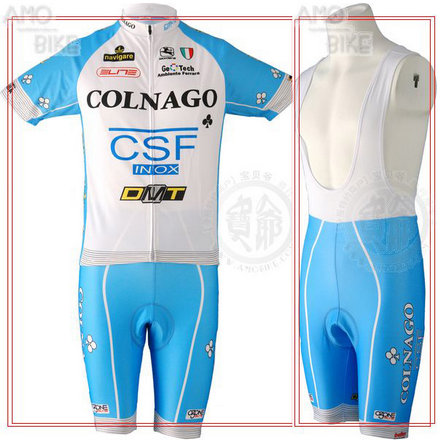 COLNAGO 2010 Blue Cycling Short Sleeve Jersey & BIB Shorts kit Size S/M/L/XL/XXL/XXXL