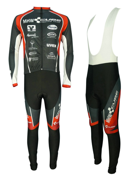 CUBE (#1301L1) Cycling Long Sleeve Jersey & BIB Long Pants kit Size S/M/L/XL/XXL/XXXL Price $38