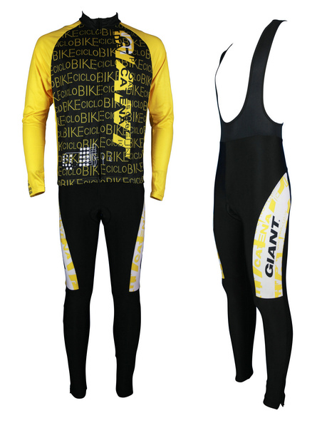 GIANT (#1402L1) Cycling Long Sleeve Jersey & BIB Long Pants kit Size S/M/L/XL/XXL/XXXL Price $38