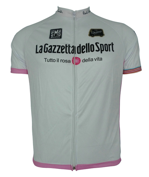Giro d'Italia (#130WS1) Cycling Short Sleeve White Jersey Only