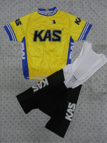 KAS #1101S1 Cycling Short Sleeve Jersey & BIB Shorts kit Size S/M/L/XL/XXL/XXXL