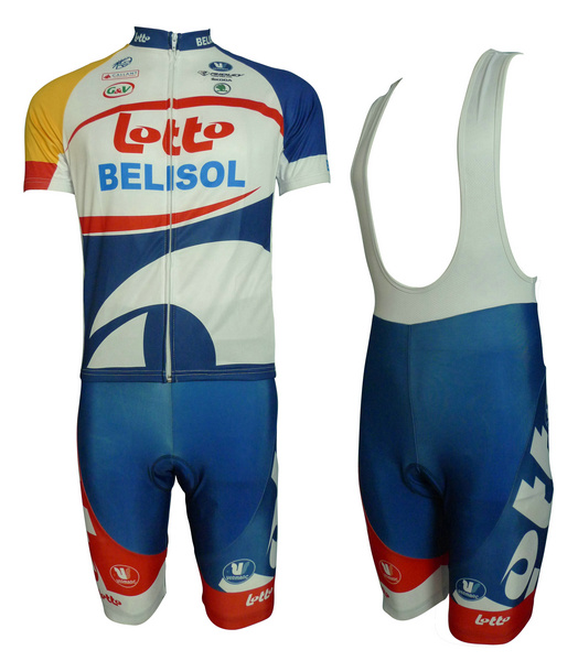 LOTTO (#1301S1) Cycling Short Sleeve Jersey & BIB Shorts kit Size S/M/L/XL/XXL/XXXL