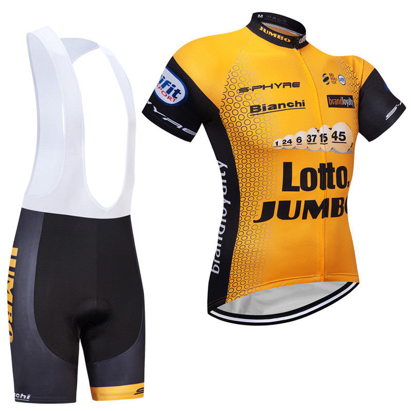 LOTTO (#1801S1) Cycling Short Sleeve Jersey & BIB Shorts kit Size S/M/L/XL/XXL/XXXL