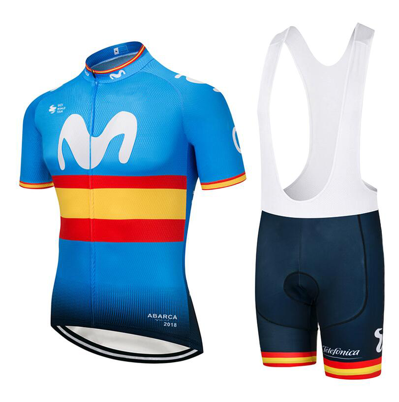 Movistar (#1802S1) Cycling Short Sleeve Jersey & BIB Shorts kit Size S/M/L/XL/XXL/XXXL