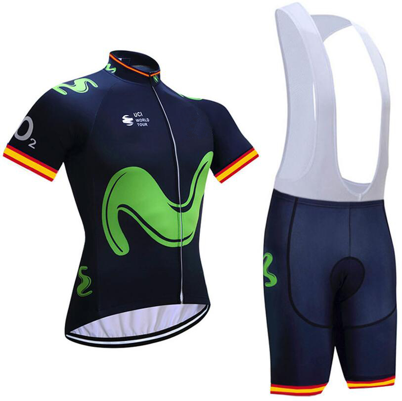 Movistar (#1803S1) Cycling Short Sleeve Jersey & BIB Shorts kit Size S/M/L/XL/XXL/XXXL