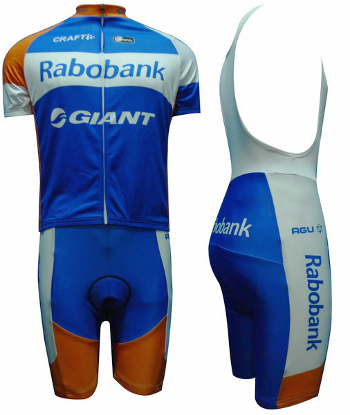 RABOBANK (#1202S1) Cycling Short Sleeve Jersey & BIB Shorts kit Size S/M/L/XL/XXL/XXXL