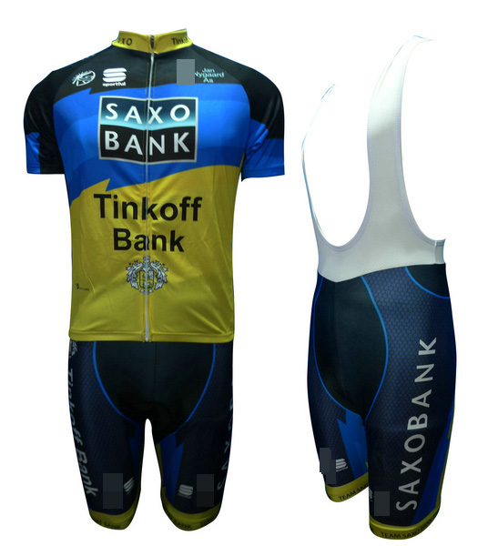 SAXO BANK (#1205S1) Cycling Short Sleeve Jersey & BIB Shorts kit Size S/M/L/XL/XXL/XXXL
