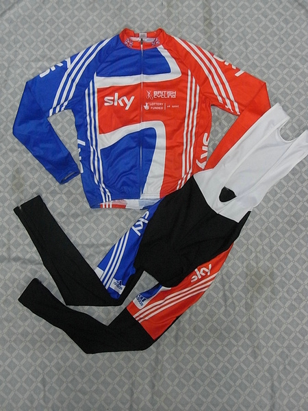 SKY (#1101L1) Cycling Long Sleeve Jersey & BIB Long Pants kit Size S/M/L/XL/XXL/XXXL Price $38