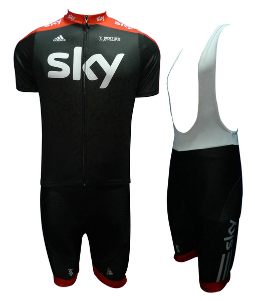 SKY (#1205S1) Cycling Short Sleeve Jersey & BIB Shorts kit Size S/M/L/XL/XXL/XXXL