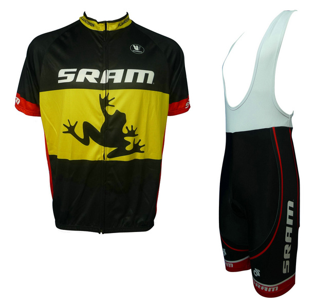 SRAM (#1401S1) Cycling Short Sleeve Jersey & BIB Shorts kit Size S/M/L/XL/XXL/XXXL
