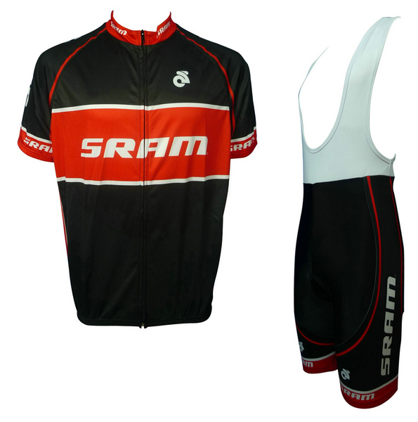 SRAM (#1402S1) Cycling Short Sleeve Jersey & BIB Shorts kit Size S/M/L/XL/XXL/XXXL